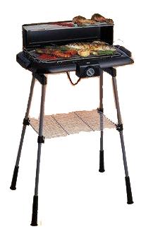 barbecue electrique avec zone de réservation