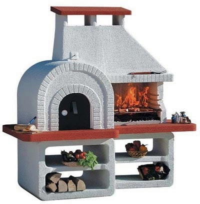 barbecue fixe avec four a pizza. Black Bedroom Furniture Sets. Home Design Ideas