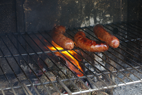 saucisses au barbecue